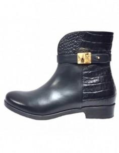 Ghete dama, piele naturala, marca Badura, Cod 7154-01-16, culoare negru