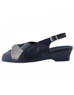 Sandale dama, din piele naturala, marca Marco Tozzi, 2-28910-26-01-21-08, negru