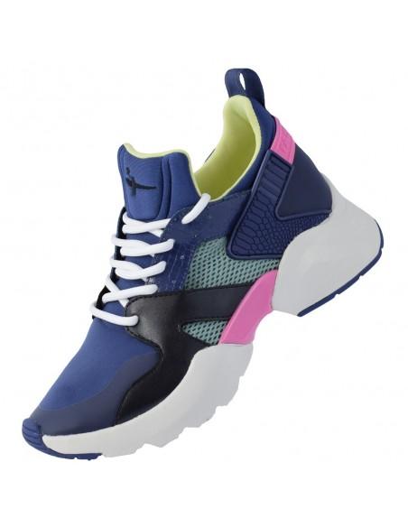 Adidasi dama, din textil, marca Tamaris, 1-23206-26-42-21-10, bleumarin