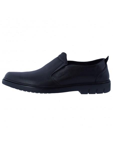 Pantofi barbati, din piele naturala, marca Mels, 17011-01-21-143, negru