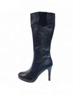Cizme dama, piele naturala, marca Neno, Cod 25712-01-71, culoare negru