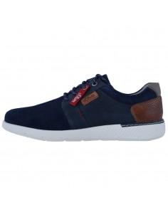 Pantofi barbati, din piele naturala, marca s.Oliver, 5-13631-42-21-15, bleumarin