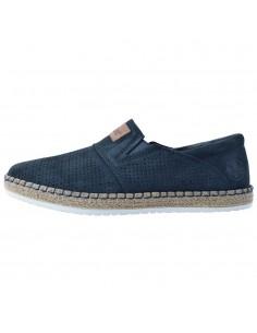 Pantofi barbati, din piele naturala, marca Rieker, B5256-14-42-21-22, bleumarin