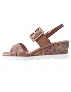 Sandale dama, din piele naturala, marca Marco Tozzi, 2-28724-26-16-21-08, coniac