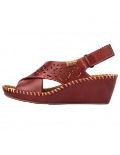 Sandale dama, din piele naturala, marca Pikolinos, 943-1585-05-21, rosu
