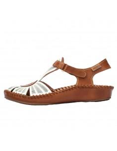Sandale dama, din piele naturala, marca Pikolinos, 655-0575-52-21, crem