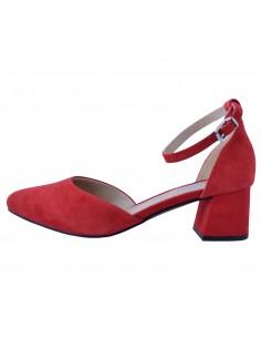 Pantofi dama, din piele naturala, marca Rieker, 49150-33-05-22, rosu