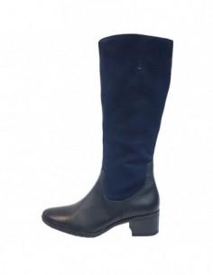 Cizme dama, piele naturala, marca Caprice, Cod 25581-07-03, culoare albastru