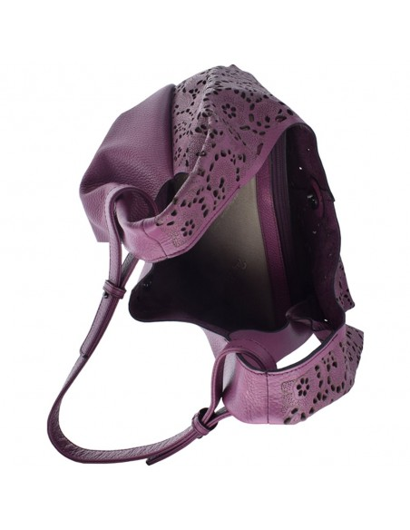 Genti dama, din piele naturala, marca Tony Bellucci, L0095-09-21-64, violet