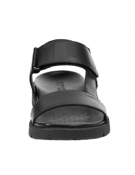 Sandale barbati, din piele naturala, marca Geox, U15BGB-0003C-C9999-06, negru