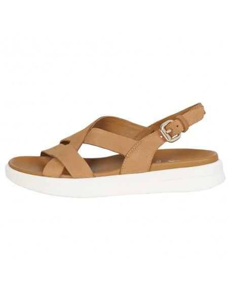 Sandale dama, din piele naturala, marca Geox, D15PAD-00033-C6001-06, coniac