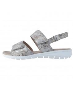 Sandale dama, din piele naturala, marca Caprice, 9-28650-26-14-21-03, gri