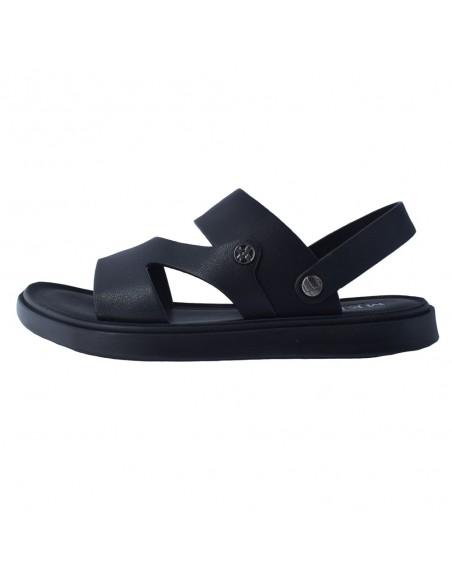 Sandale barbati, din piele naturala, marca Mels, 56292G-01-143, negru