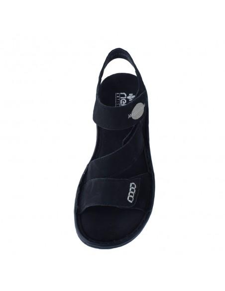 Sandale dama, din piele naturala, marca Rieker, 608Q3-00-01-21-22, negru
