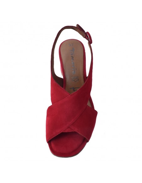 Sandale dama, din piele naturala, marca Tamaris, 1-28357-26-05-10, rosu
