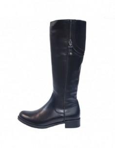 Cizme dama, piele naturala, marca Badura, Cod 9211-01-16, culoare negru