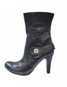 Botine dama, piele naturala, marca Efetti, Cod 7500-01-125, culoare negru