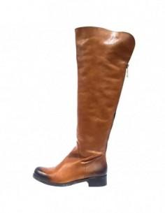 Cizme dama, piele naturala, marca Badura, Cod 9121-68-16-16, culoare coniac