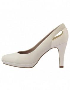 Pantofi de mireasa, piele naturala, marca s.Oliver, Cod 22411-13-15, culoare alb