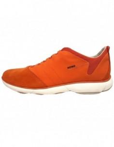 Pantofi sport barbati, piele naturala, marca Geox, Cod U52D7B-11-06, culoare portocaliu