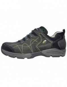 Pantofi sport barbati, piele naturala, marca Waldlaufer, Cod 355001-14-04, culoare gri
