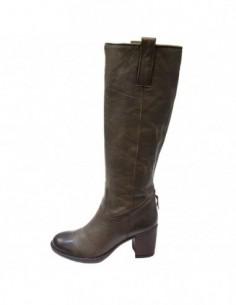 Cizme dama, piele naturala, marca Johnny, Cod 5164-40-14, culoare kaki