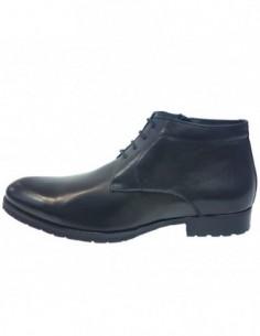 Ghete barbati, piele naturala, marca Saccio, Cod H12999-R04A-01-17, culoare negru