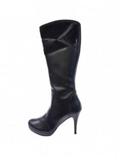 Cizme dama, piele naturala, marca Neno, Cod 11311-01-71, culoare negru