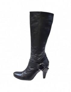 Cizme dama, piele naturala, marca Gia Moretti, Cod 1571-01-126, culoare negru