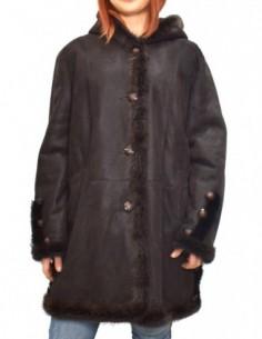 Cojoc dama, blana naturala, marca Kurban, Cod T-23-02-95, culoare maro