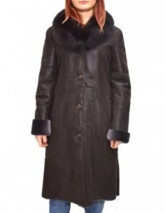 Cojoc dama, blana naturala, marca Kurban, Cod 5030VIV3-02-95, culoare maro