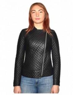Haina dama, din piele naturala, marca Kurban, BAYAR-01-95, negru