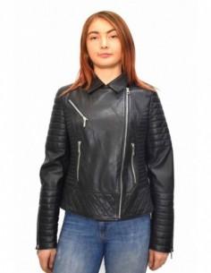 Haina dama, piele naturala, marca Kurban, Cod BAYAN-01-95, culoare negru