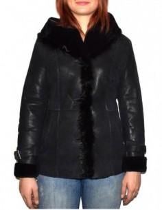 Cojoc dama, blana naturala, marca Kurban, Cod 2011-01-95, culoare negru