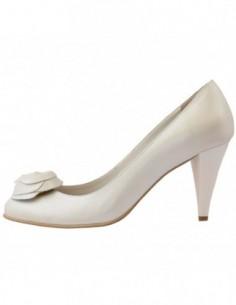 Pantofi de mireasa, piele naturala, marca Botta, Cod 252-13-05, culoare alb