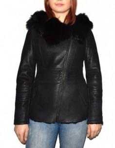 Cojoc dama, blana naturala, marca Kurban, Cod 7-01-95, culoare negru