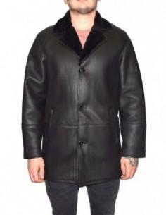 Cojoc barbati, blana naturala, marca Kurban, Cod 2-01-95, culoare negru