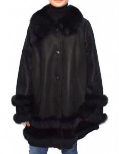 Cojoc dama, blana naturala, marca Kurban, Cod 29-01-95, culoare negru