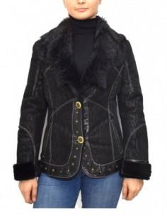 Cojoc dama, blana naturala, marca Kurban, Cod 403C-01-95, culoare negru