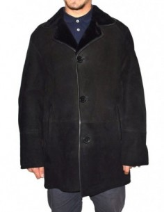 Cojoc barbati, blana naturala, marca Kurban, Cod 22-01-95, culoare negru