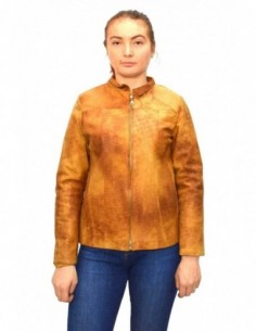Haina dama, din piele naturala, marca Kurban, 10-16-95, coniac