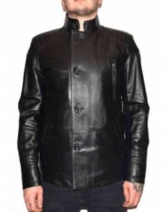 Haina barbati, piele naturala, marca Kurban, Cod 103-01-95, culoare negru