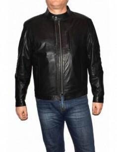 Haina barbati, piele naturala, marca Kurban, Cod KWARA-01-95, culoare negru