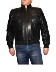 Haina barbati, piele naturala, marca Kurban, Cod 301-01-95-1, culoare negru
