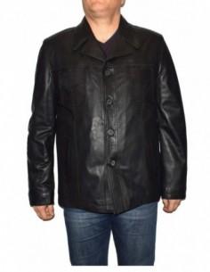 Haina barbati, piele naturala, marca Kurban, Cod 339N-01-95, culoare negru