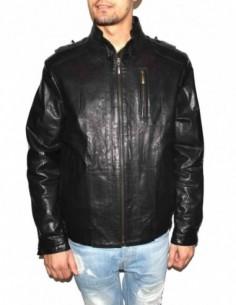 Haina barbati, piele naturala, marca Kurban, Cod R1-01-95, culoare negru