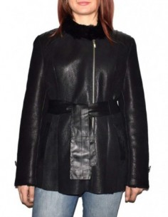 Cojoc dama, blana naturala, marca Kurban, Cod 1-01-95, culoare negru