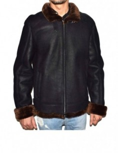 Cojoc barbati, blana naturala, marca Kurban, Cod Pilot675-01-95, culoare negru
