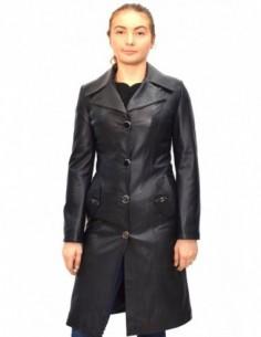 Haina dama, din piele naturala, marca Kurban, 503-01-95, negru