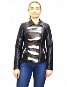 Haina dama, piele naturala, marca Kurban, Cod 22-01-95P, culoare negru
